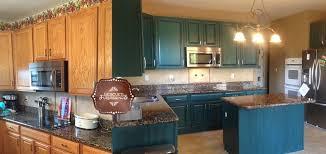 blue kitchen cabinets brown granite diy kitchen transformation galapagos blue hometalk