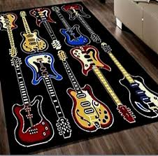 Guitar Area Rug Electric Guitars Area Rug 5 X 7 Area Rugs For Sell