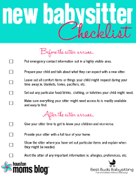 five things your new babysitter wishes you u0027d do houston moms