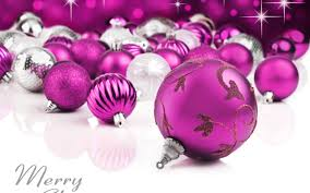 white and purple christmas ornaments merry christmas
