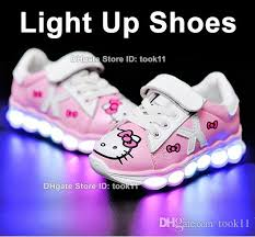led light up shoes for boys kids light up shoes for girls boys pink hello kitty led shoes