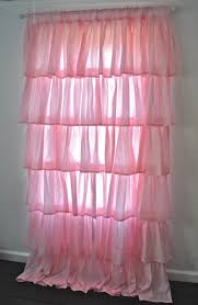 Ruffled Pink Curtains Curtain Curtain Interior Window Accessories Exciting White