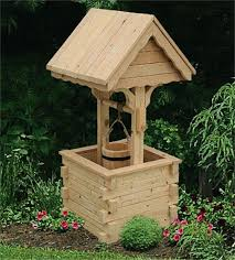 amish outdoor wooden wishing well with pine roof jumbo amish