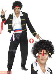 adam and costume 80s adam ant costume wig men new prince charming fancy