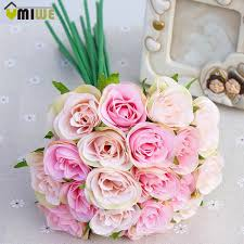 aliexpress com buy home wedding decoration pink bouquet hand