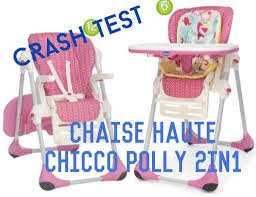 chicco chaise haute polly 2 en 1 crash test la chaise haute chicco polly 2in1