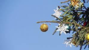 Decorate Christmas Tree Big Balls by Decorated Christmas Ornaments On The Christmas Tree On Blurred
