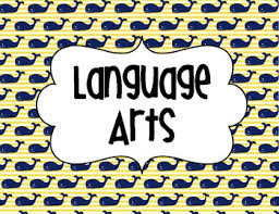 Language Arts Sign Nautical Theme Whale Background by Third