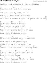 christmas carol song lyrics with chords for christmas prayer