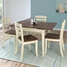 manhattan comfort york 5 piece blue wash solid wood dining set