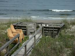 authentic ocean front beach house private boardwalk to beach