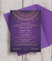 purple and gold wedding invitations purple gold indian asian wedding invitation from 1 00 each