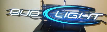 bud light lighted sign bar supplies bud light long neon lighted sign exc w60