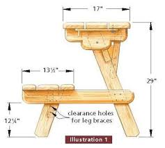 Picnic Table Plans Free Wooden Picnic Table Plans Free Discover Woodworking Projects