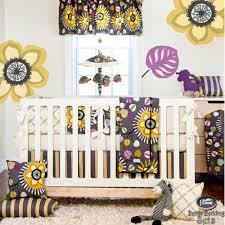 Nursery Bedding For Girls by Baby Unique Purple Grey Quilt Crib Nursery Newborn Bedding