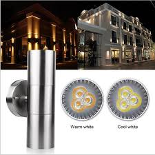 Stainless Steel Exterior Light Fixtures 6w Waterproof Stainless Steel Up Led Wall Light Fixtures Ip65