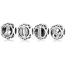 new year jewelry 2018 new year jewelry 925 sterling silver number charm fit