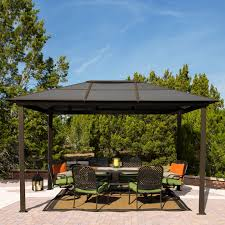 patio furniture gazebo stc 9 x 12 ft madrid gazebo walmart com