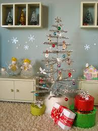 tinsel christmas tree make a miniature tinsel tree