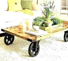 Rustic Coffee Table With Wheels Coffee Table Wheels Wheel Tables For Throughout With Inspirations