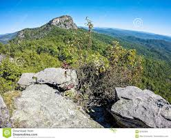 Table Rock Hike Landscape Views On Top Of Table Rock Mountain Nc Stock Photo