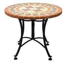 terra cotta mosaic end table w metal base