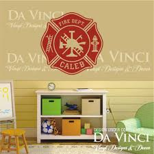 firefighter home decorations amazon com firefighter fire department emblem personalized custom