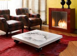Living Room Tables Living Room Modern Coffee Table With Purple Accentuates And