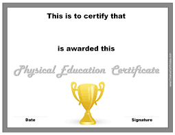 Printable Halloween Certificates Physical Education Awards And Certificates Free