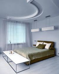 Modern Bedroom Ceiling Design Cool White Drop Ceiling Design Plus Impressive Brown Bed Idea And