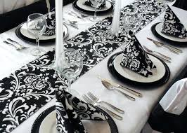 black and white table settings table decoration in black and white black and white table settings