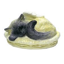 cat cremation sleeping angel cat cremation urn custom painted