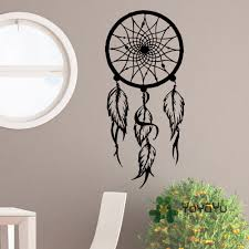 compare prices on hippie wall decals online shopping buy low special dreamcatcher vinyl wall decal hippie native america dreamcatcher wall stickers feathers home decor bohemian poster