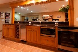 Red Birch Kitchen Cabinets Basement Elite Home Remodeling