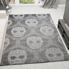 Schlafzimmer Grau Creme Schlafzimmer Teppich Grau Creme Kunstvoll Schädel Maschen Muster