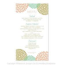 place setting template printable wedding menu cards u2013 sproutcamp co
