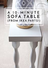 ikea sofa table a 10 minute sofa table using ikea parts sofa tables shelves and easy