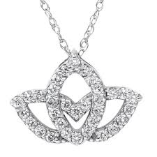 white gold flower necklace images 14k white gold 2 5ct tdw diamond lotus flower pendant necklace jpg