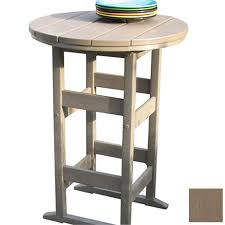 Patio Bistro Table Shop Siesta Furniture Bistro 26 In Weathered Wood Plastic