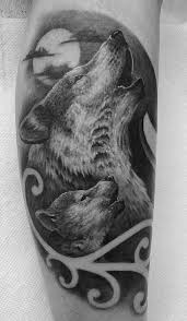 howling wolf and cub by travis greenough tattoonow