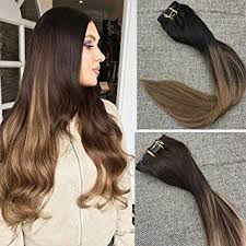 real hair extensions 10 pcs high quality clip in hair extensions color 2 fading to 8