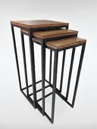 designer beistelltische designer beistelltische nevol 3er set tisch holz metall ebay
