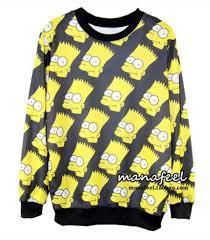 bart sweater sweater yellow black the simpsons bart sweatshirt