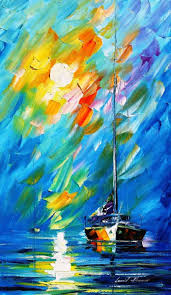 fog movement u2014 palette knife oil painting on canvas by leonid