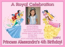 disney princess birthday invitations badbrya com