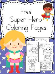free superheroes coloring pages kindergarten activities