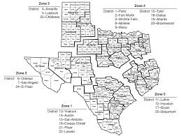 Van Texas Map Geographic Delivery Zones And Districts
