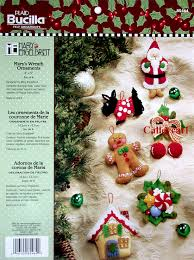 s wreath bucilla felt ornament kit 85464 fth studio