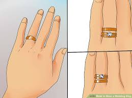 how are wedding rings supposed to be worn how to wear a wedding