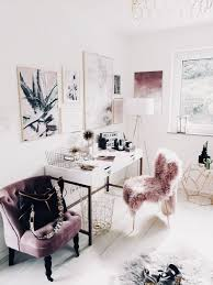 Glam office  chic office  pink mauve gold and white office